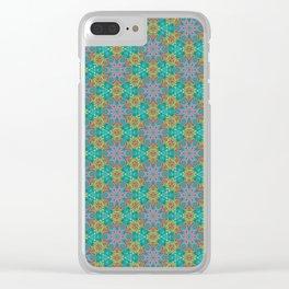 Geometric Flower Pattern 2 Clear iPhone Case