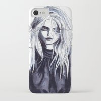 sky ferreira iPhone & iPod Cases featuring Sky Ferreira  by Asquared2Art