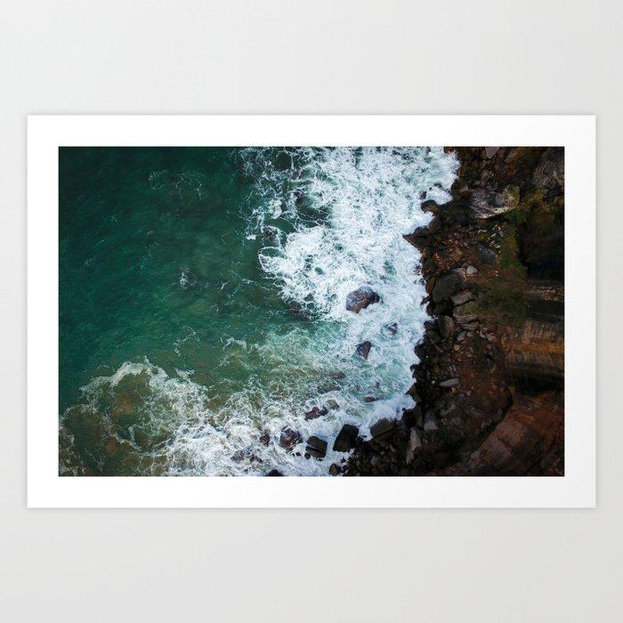 Cliff 5 Art Print