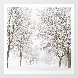 SnowLand Art Print