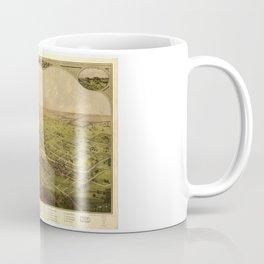 Bird's Eye View of Lansing, Michigan (1866) Coffee Mug