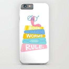 Bookworms Rule iPhone Case