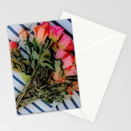 Sketchy Roses Stationery Cards