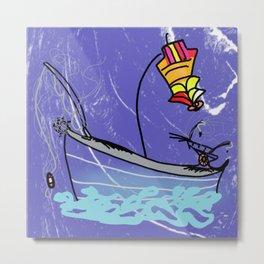 sea life a Fishersman Boat Metal Print