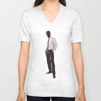 desert V-neck T-shirts featuring Desert by Aletifer