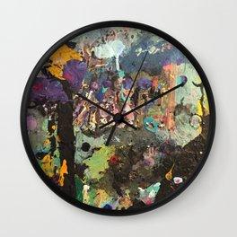 Manic Palette Wall Clock