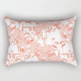 just goats flame orange Rectangular Pillow