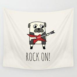 Rockstar Pug Wall Tapestry