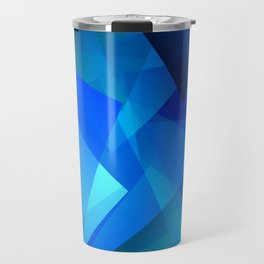 Poetry blue with red detail Travel Mug