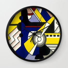 Roy Lichtenstein - Aviation 1967 Wall Clock