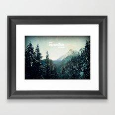 On Mountain Time Framed Art Print