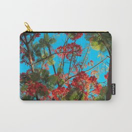 Bright Tropical Tree Carry-All Pouch