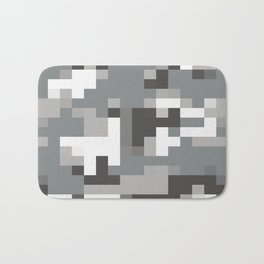 Army Camouflage Pixelated Pattern Snow Mountain Bath Mat