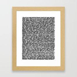 Wordless Framed Art Print