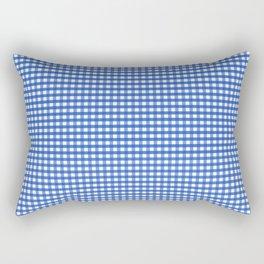 Gingham Blue Rectangular Pillow
