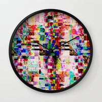 cock Wall Clocks featuring Pa-Cock by Lynsey Ledray