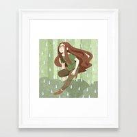 robin hood Framed Art Prints featuring Robin Hood by Nano Rain