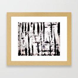 Zebra Abstract Framed Art Print