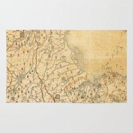 Map of Zhili and Shandong, China (c1855-1870) Rug