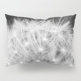 Black and white dandelion head Pillow Sham