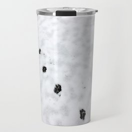 Hunting snow beast paw prints Travel Mug