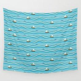Sailing pattern 1c Wall Tapestry