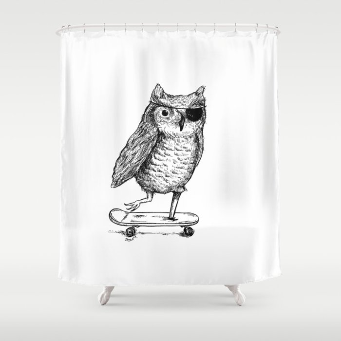 Ride On Owl Shower Curtain