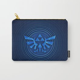 ZELDA Triforce Blue Carry-All Pouch