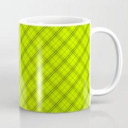 Slime Green and Black Halloween Tartan Check Plaid Coffee Mug