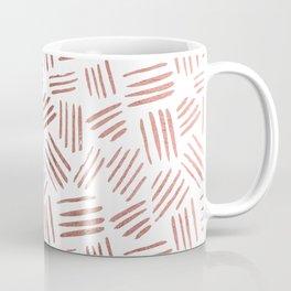 Elegant faux rose gold modern geometric stripes Coffee Mug