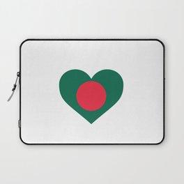 Bangladesh  love flag heart designs  Laptop Sleeve