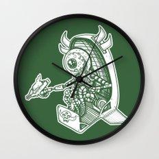 Space Alien Bounty Hunter by RonkyTonk Wall Clock