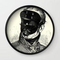 bdsm Wall Clocks featuring BDSM XXVIII by DIVIDUS