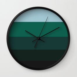 Moist Leaves Wall Clock