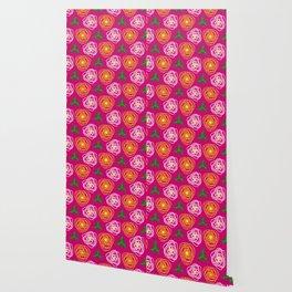 Bright pink floral Wallpaper