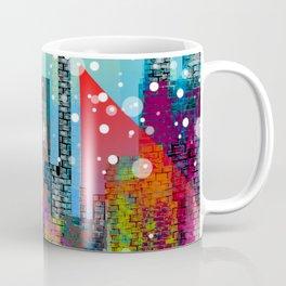 Snowy Stylized City Coffee Mug