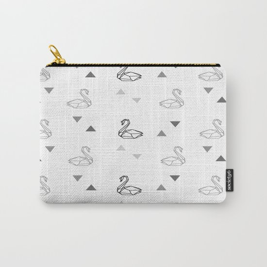 Swan Pattern Carry-All Pouch
