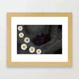 Flowers are a treasure Framed Art Print