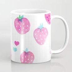 Summer strawberry fruit watercolors pattern Mug