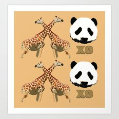 XOXO wild animals Art Print