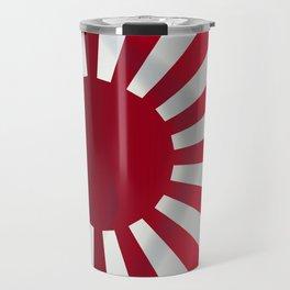 Japanese Rising Sun Flag Travel Mug