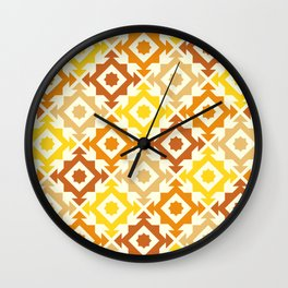 The arrow – brown and yellow Wall Clock