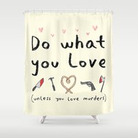 motivational Shower Curtains featuring Motivational Poster by Sophie Corrigan