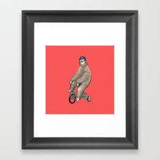Haters Gonna Hate Sloth Framed Art Print