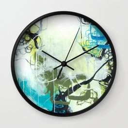 Everglades - Square Abstract Expressionism Wall Clock