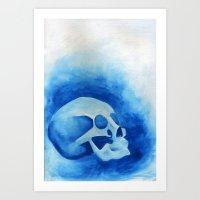 Blue - Original Watercolor Painting By Sophia Hanna Art Print