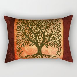 Tree Of Life Warm Tones Rectangular Pillow