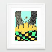 thrones Framed Art Prints featuring two thrones by Jacklynn