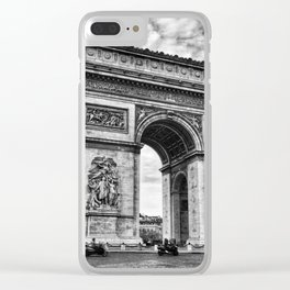 Arc De Triomphe - Paris (BW Version) Clear iPhone Case