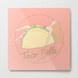 Taco Belle | Woman in Taco Illustration Metal Print
